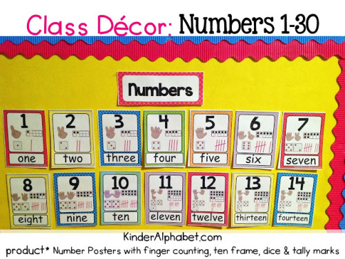 Classroom Decor Numbers ~ Classroom decor linky party